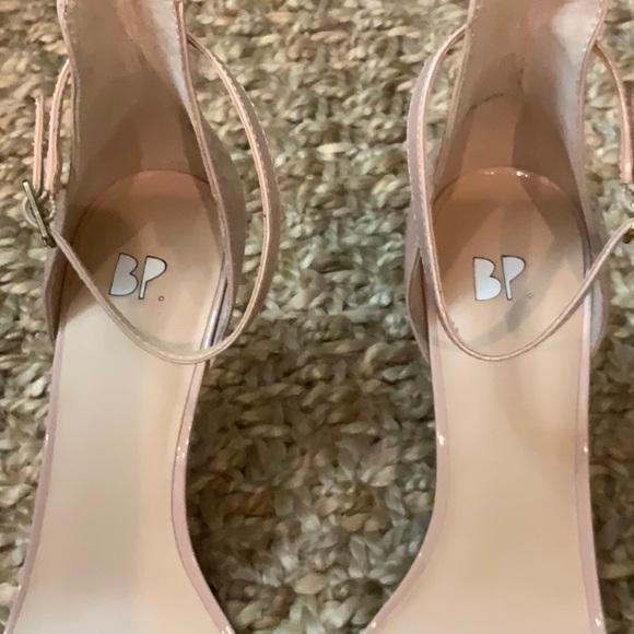 Brass Plum BP. Luminate Open Toe Dress Sandal (Women